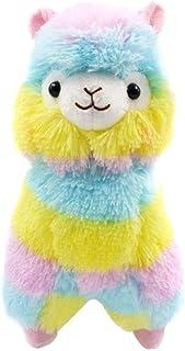 1Pc variopinto del fumetto Alpaca peluche delle pecore Peluche Stuffed Animals bel regalo per le ragazze regalo dei capretti