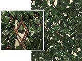 Cortasetos Artificial hacer con dibujo de hojas de laurel 100x 200cm.