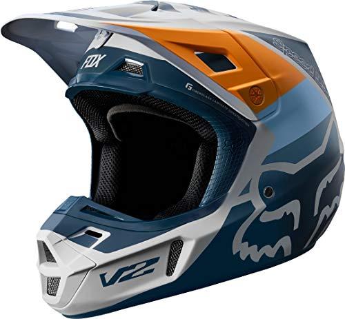 FOX V2 Murc Motocross Helm Hellgrau S
