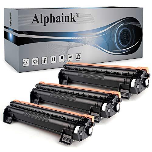 3 Toner Alphaink Compatibile con Brother TN-1050 versione da 1000 copie per stampanti Brother DCP1510 DCP1512 DCP1601 DCP1610W HL1110 HL1112 HL1211W MFC1810 MFC1815 MFC1910 (3 Toner)
