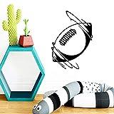 Coloré Rugby Vinyle Papier Peint Rouleau Meubles décoration Salon Chambre étanche Mur Art décalque 58X49 cm