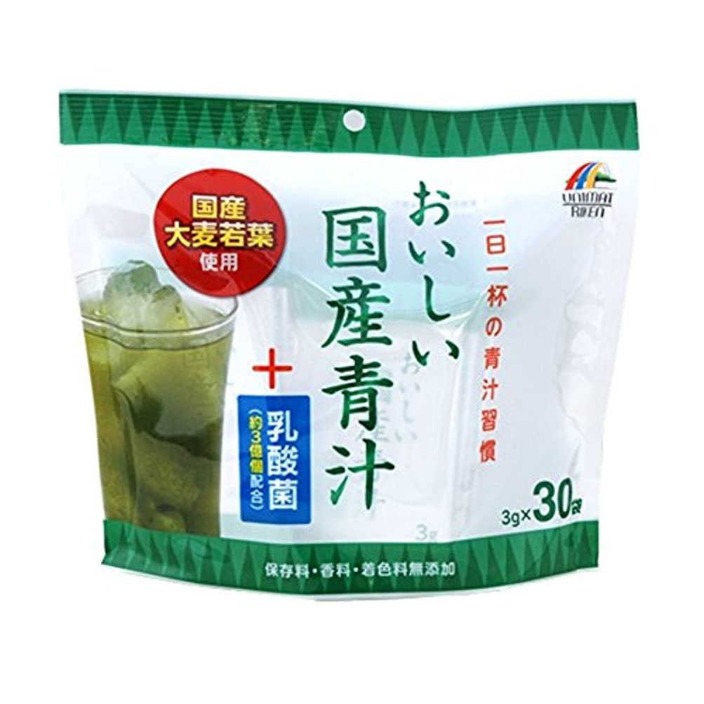 自体終了するリールユニマットリケン おいしい国産青汁+乳酸菌 3gx30包