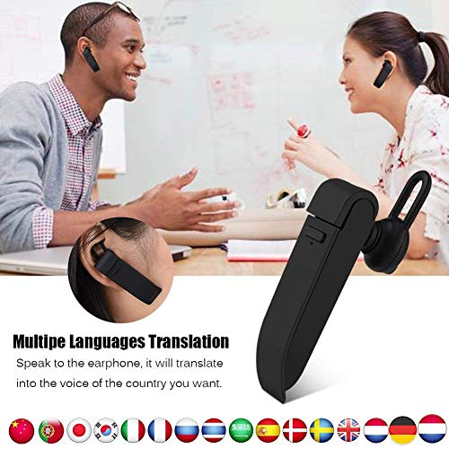 Real Time Voice Translation in Your Ear, Smart Language Translator Device Wireless Bluetooth Earpiece Portable 16 Languages for Learning Travelling Business