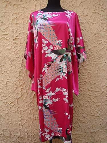 Miwaimao zwart plus size vrouwen rayon nachtjapon stijl zomer dames badjas nachtjapon pyjama