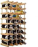 dreamade cantinetta portabottiglie in legno scaffale porta vino per 40 bottiglie per casa bar ristorante 102,5 x 24x 33cm