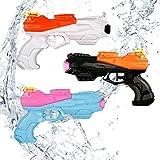 infinitoo 3PCS Pistola ad Acqua Squirt Gun Pistol Giocattoli Bambini Adulti, Estivi Feste all'aperto Piscina all'aperto Giochi da Spiaggia