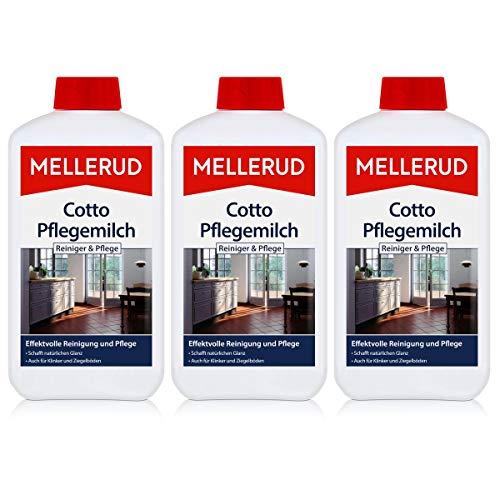 3x Mellerud Cotto Pflegemilch 1L - Schutz und Glanz