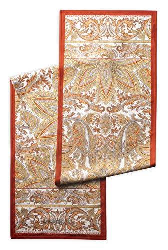 Maison d' Hermine Kashmir Paisley 100% Cotton Table Runner 14.5 Inch by 72 Inch.