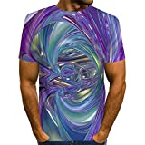 Xyanzi Camiseta Unisex, Patrón de Camisa Camiseta Estampada en 3D Camisetas de Pesca Verano Casual Novedad Cuello Redondo Camisetas de Manga Corta (Color : A-4, Size : 5XL)