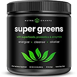 top 10 veggie green supplement Super Green Powder Premium Superfoods – Over 20 Organic Vegetables, Whole Foods – Wheatgrass,…