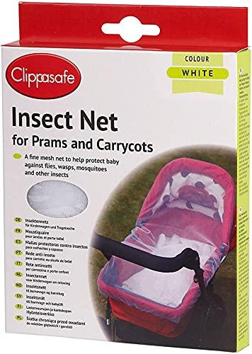 Clippasafe Filet anti-insectes pour Landau et porte-bébé Blanc