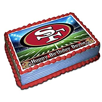 49ers Personalized Cake Topper 1/4 8.5 x 11.5 Inches Birthday Cake Topper