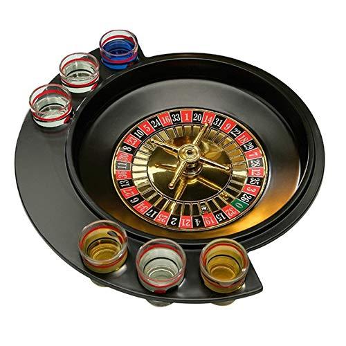 Andifany Neuheit Geschenke Russische Glücks Schuss Party Spiele Roulette Trink Spiel Mit 6 Glas Spin Rad Tragbare Brett Spiel Für 2-3 Spieler