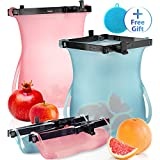 Upgrade Reusable Silicone Food Storage Bags Dishwasher and...