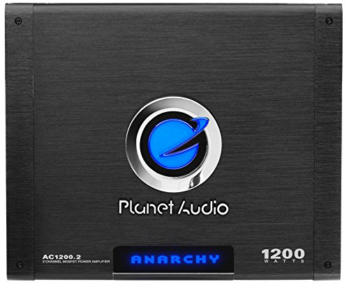 Lowest Price! Planet Audio AC1200.2 2 Channel Car Amplifier - 1200 Watts, Full Range, Class A/B, 2-4...