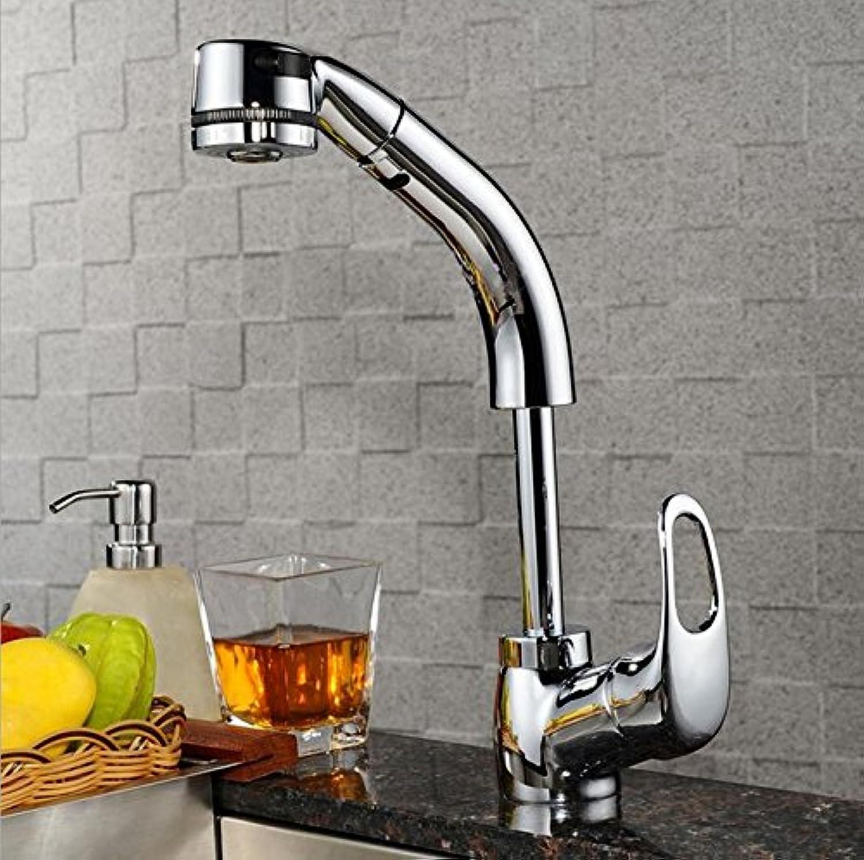 Küchenarmatur Wasserhahn Küche Mit Herausziehbarer Dual-Spülbrause Spiralfederhahn Wasserhahn Kaltes Und Heies Wasser Vorhanden Messing Verchromt Küchenhahn 20