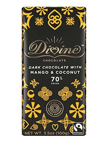 image of Divine Mango Coconut Dark Chocolate