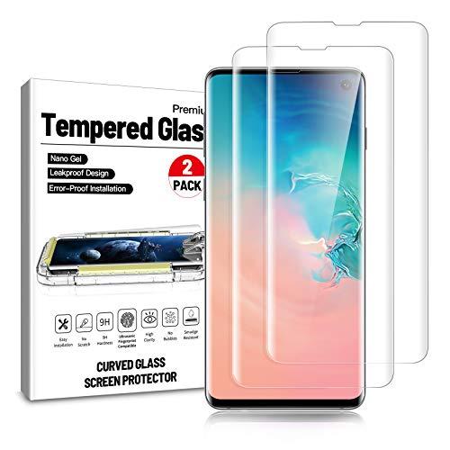 Ni-SHEN [2 Stück] Panzerglasfolie für Samsung Galaxy S10, HD Displayschutzfolie, 9H Härte, Anti-Kratzen, Anti-Öl, Anti-Bläschen, Hülle Freundllich