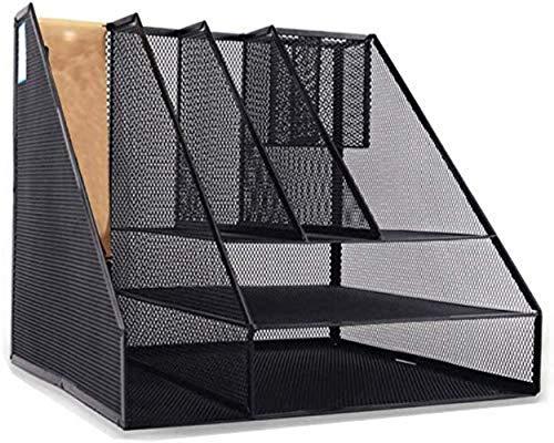 N/Z Home Equipment Aktenschränke 2 Modelle Metall Zeitungsständer Rahmen File Divider Display Stand Aufbewahrungsbox Schwarz Home Office Möbel Bücherregal (Farbe: B)