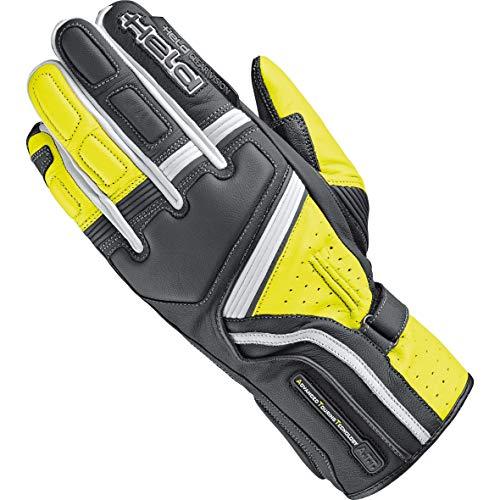 Held Motorradhandschuhe lang Motorrad Handschuh Travel 5 Handschuh schwarz/Neongelb 9, Herren, Sportler, Sommer, Leder