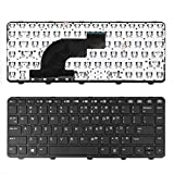 Laptop Keyboard for HP ProBook 640 G1 645 G1 Black Replacement Keyboard with Frame