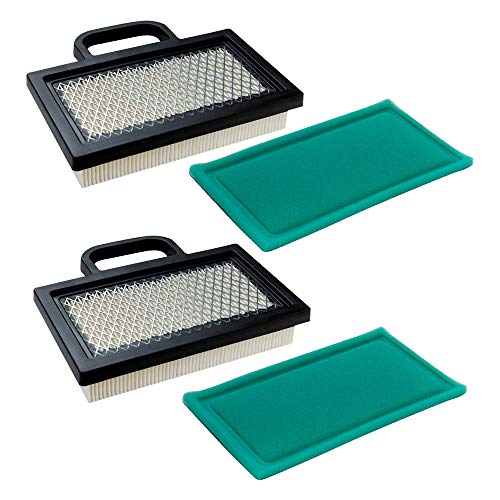 HEYZLASS 2Pack 499486S 698754 Air Filter with Pre Cleaner - for Briggs and Stratton 18-26 HP Intek V-Twins Engine John Deere Husqvarna Lawn Mower Tractor