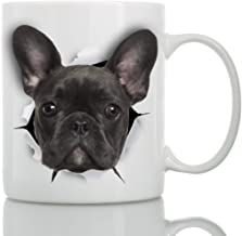 Black French Bulldog Mug - Ceramic Funny Coffee Mug - Perfect French Bulldog Gifts - Cute Novelty Coffee Mug Present - Great Birthday or Christmas Surprise for Friend or Coworker, Men and Women (11oz)