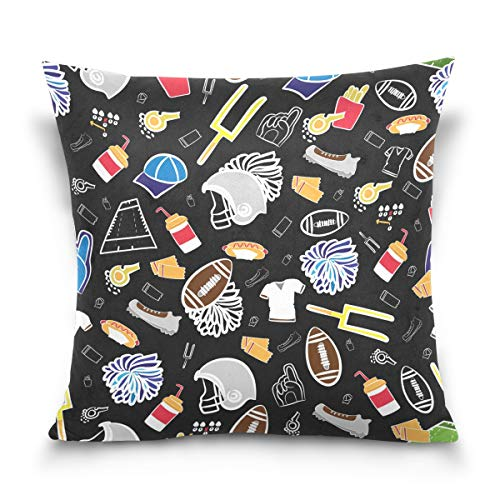 LORONA American Football Pattern Throw Pillow Case Home Decoration for Couch Sofa Cushion Cover 16