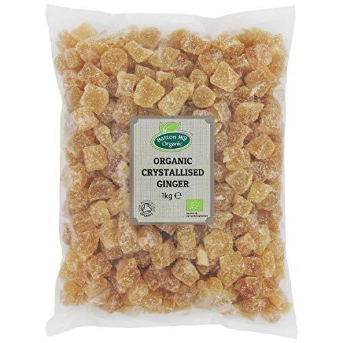 Bio kandierter und gezuckerte Ingwer Würfeln, Kristallisierter Ingwer 1kg von Hatton Hill Organic – BIO zertifiziert