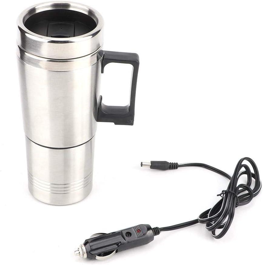 Hervidor eléctrico para coche Ladieshow 12V 350ML + 150ML Taza de calentamiento de agua de té de café