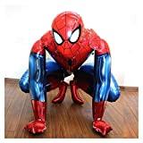 Ballon anniversaire Big 3D Film Spiderman Ballon Iron Man Batman Décoration de fête d'anniversaire for enfants Toy baby shower ballon de bande dessinée Air Globos (Color : Deep Sapphire)