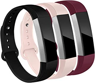 OenFoto Bands Compatible Fitbit Alta/Alta HR/Ace, Adjustable Soft Silicone Bracelet Replacement Accessory Wristband for Fitbit Alta/Alta HR/Ace,Women Men, Large Small