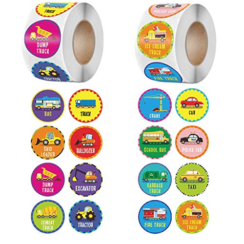 Teacher Stickers 1500pcs Set in 24 Designs, Teacher Reward Encouraging Motivational Sticker for Classroom,Incentive Small School Stickers for Kids, Students (Cars Patter)