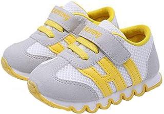 DEBAIJIA Zapatos para Niños 0-3T Bebés Caminata Zapatillas Color Sólido Malla Antideslizante Transpirable Ligero EVA Mater...