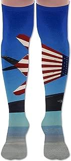 LKJH American Flag Fighter Unisex Socks Premium Soft Fancy Design Multi Colorful Patterned for Women Men