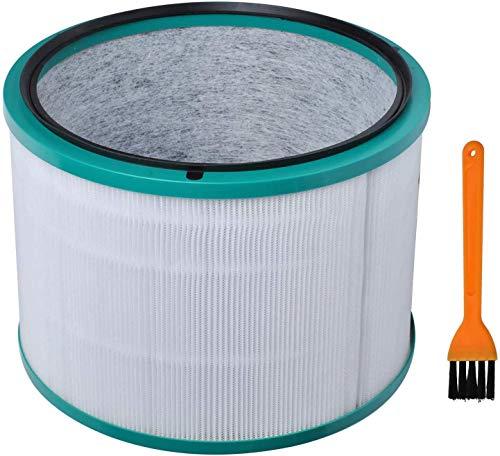 Poweka Filtro HEPA 967449-04 de Repuesto Compatible con Dy-Son Pure Cool HP03 DP01 DP03 HP02 HP01 HP00 Purificador de Aire de Escritorio Pure Hot + Cool Link con Cepillo