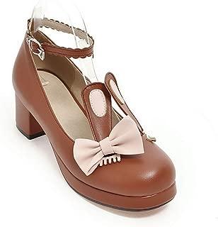 BalaMasa Womens Assorted Colors Bows Travel Urethane Pumps Shoes APL10587
