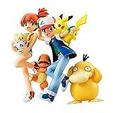 2 Unids / Set Anime Pokemon Ash Ketchum con Charmander Pika Misty con Psyduck Figura De Acción De Ju...