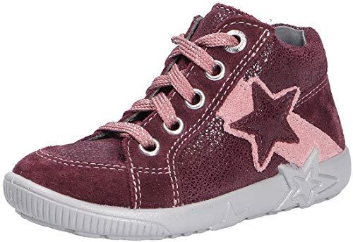 Superfit Baby Mädchen STARLIGHT Sneaker, (Rot/Rosa 50), 25 EU