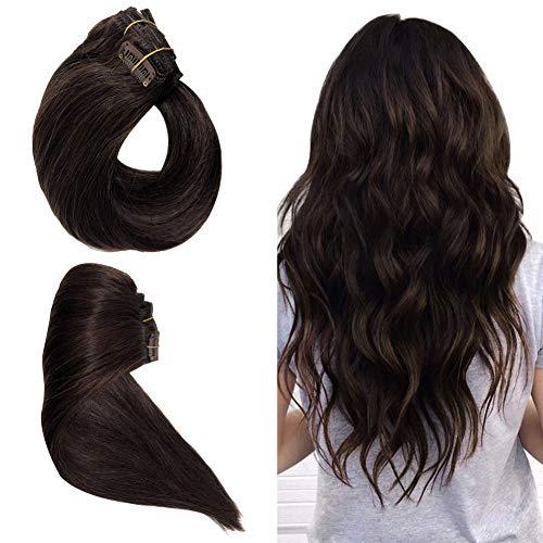 Remy Clip en Extensions de cheveux 100% naturels Extensions de cheveux humains pour femme 7 pièces par lot, 38 cm 45 cm 50 cm 55 cm avec différentes couleurs