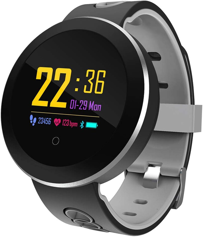 KLAYL Intelligente Uhr Intelligente Uhr Q60 Smartwatch Safe-Keeper SOS Anruf Anti-Lost Monitor Echtzeit-Tracker für er Basisstation Ort APP-Steuerung, Blau