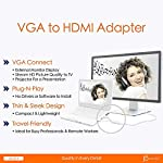 j5create VGA to HDMI Video Audio Adapter 11 Easily transform your VGA device into an HDMI connection Plug-and-Play, no software required Supports video resolutions up to 1920x1200 and USB Audio