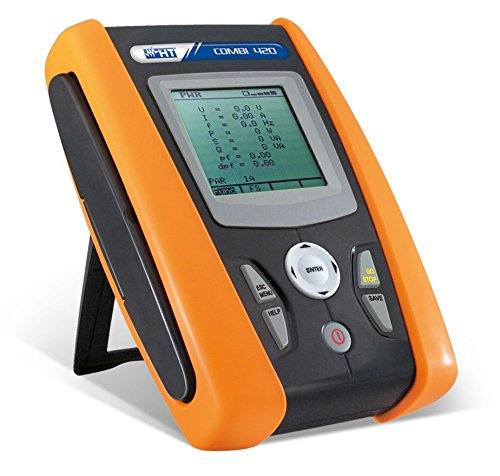 HT-Instruments Multifunktions VDE 0100-Tester mit 1-Phasen Netzanalyse, COMBI 420