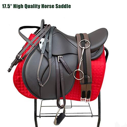 Luxus-8-Teiliges Set Pferdesattel 17,5