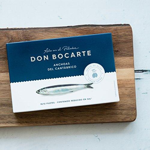 Don Bocarte Kantabrianische Sardellen Extra Natives Olivenöl 120g 10/12 Filets (10 dosen 100 grams)
