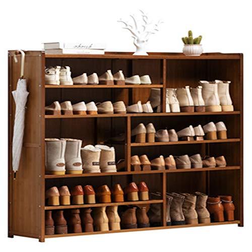 WanuigH Armario Zapatero Zapato de Zapato Simple Puerta de Almacenamiento a Prueba de Polvo Puerta de múltiples Capas Gabinete de Zapatos Organiza Tus Zapatos (Color : Marrón, Size : 119x28x122cm)