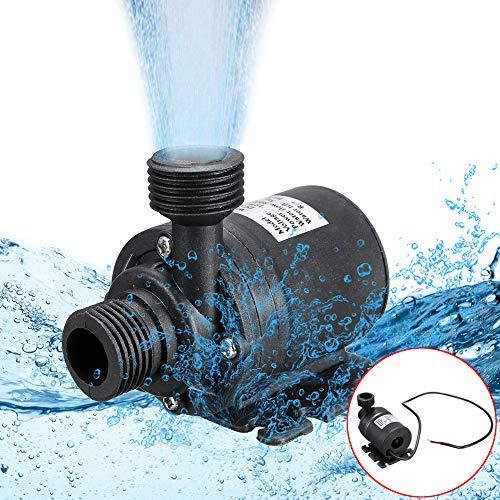 Hylotele Brushless Mini Wasserpumpe, Sehr leise DC 12V 5M 800L / H Bürstenlosen Motor Tauchwasserpumpe