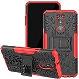 for LG Stylo 5 Case, Stylo 5 Phone Case, Viodolge [Shockproof] Hybrid Tough Rugged Dual Layer Protective Phone Case Cover with Kickstand for LG Stylo 5 (red)