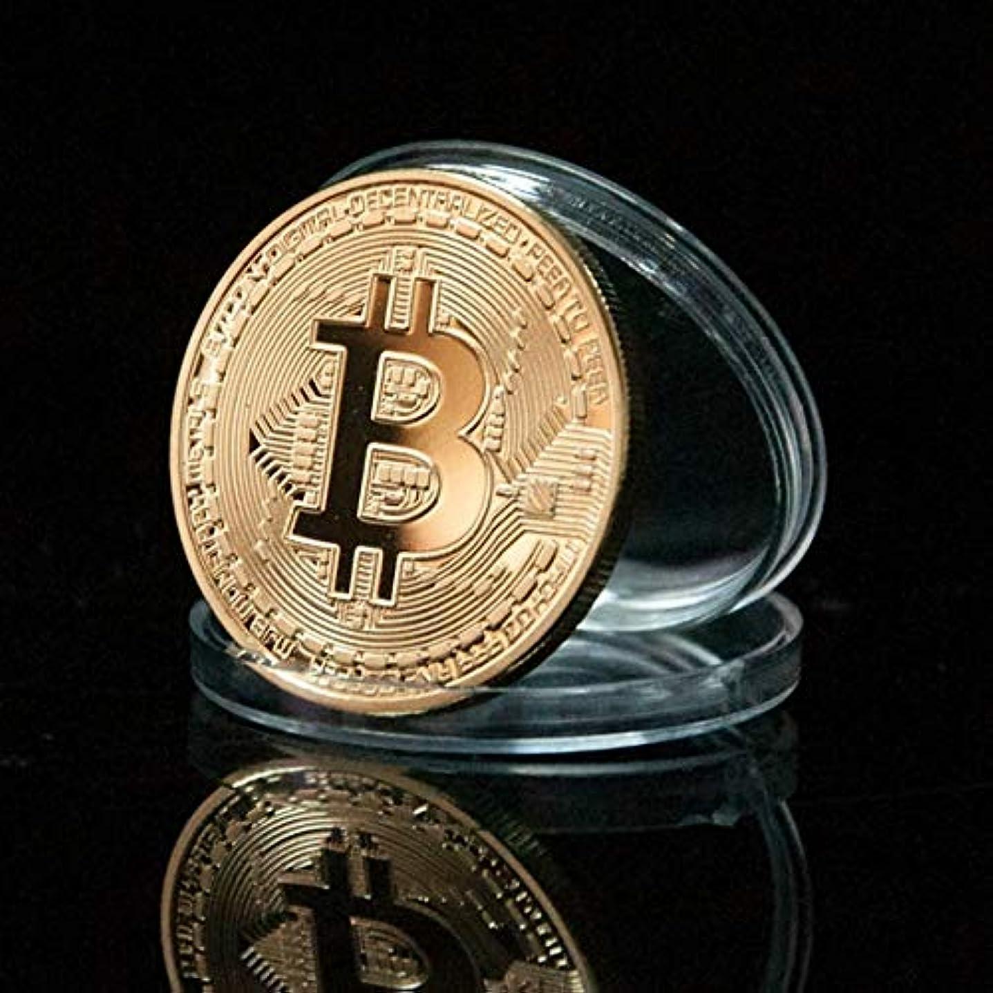 お尻歴史遺体安置所Jicorzo - ゴールドメッキ物理Bitcoins - お土産新年のギフトのためのケースでは、各CasasciusビットコインBTCの1