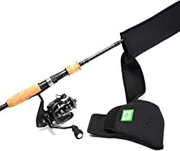 SF Fishing Rod Sleeve Cover Rod Socks Black Better Cover Spinning Reel Cover Protector 7′-7′3″ Rod and Reel Combo Tools for Spinning Sea Fishing Rod